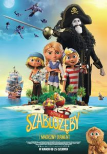 """Plakat filmu """"Kapitan Szablozęby i magiczny diament"""""""